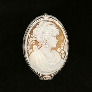 Jewelry - Sterling Silver and Cameo Pill Box Ring